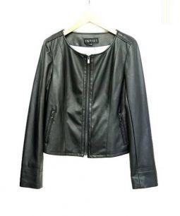 INDIVI(インディビ)の古着「レザージャケット」 ブラック