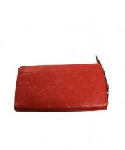 LOUIS VUITTON(ルイ・ヴィトン)の古着「ラウンドファスナー長財布」|レッド