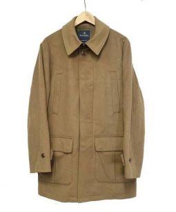 Brooks Brothers(ブルックスブラザーズ)の古着「ウールステンカラーコート」 キャメル