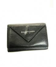 BALENCIAGA(バレンシアガ)の古着「3つ折り財布」|ブラック