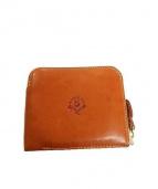 HUKURO(フクロウ)の古着「カウレザー2つ折り財布」|ブラウン
