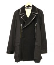 BALENCIAGA(バレンシアガ)の古着「ネップ加工切替コート」 ブラック