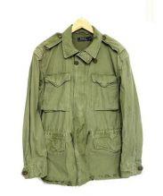 POLO RALPH LAUREN(ポロ バイ ラルフローレン)の古着「USED加工ミリタリージャケット」|カーキ