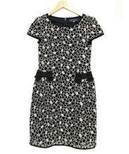 MS GRACY(エムズグレイシー)の古着「ブラウスワンピース」|ブラック×ピンク