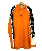 KAPPA(カッパ)の古着「プルオーバーパーカー」|オレンジ