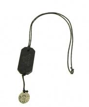 Martin Margiela 10(マルタンマルジェラ 10)の古着「ドックタグコインネックレス」|ブラック × シルバー