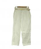 MASTER&CO.(マスターアンドコー)の古着「ベルト付ワークパンツ」|ホワイト