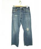 LEVIS(リーバイス)の古着「ダメージ加工デニムパンツ」|ブルー