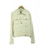 GUESS(ゲス)の古着「ダメージ加工デニムジャケット」|ホワイト