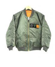 TOGA ODDS&ENDS(トーガオッズアンドエンズ)の古着「MA-1ジャケット」 カーキ