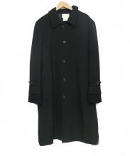 COMME des GARCONS HommePlus(コムデギャルソンオムプリュス)の古着「切替ステンカラーコート」|ブラック