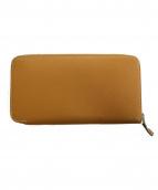 HERMES(エルメス)の古着「ラウンドファスナー財布」|ベージュ