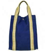 HERMES(エルメス)の古着「キャンバストートバッグ」 ブルー