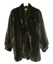 BLACK GLAMA(ブラックグラマ)の古着「セーブルミンクファーコート」 ブラウン