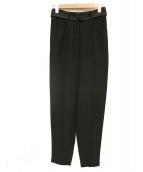 AERON(エアロン)の古着「D-ring belted peg pants」|ブラック