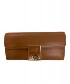 ANYA HINDMARCH(アニヤハインドマーチ)の古着「長財布」|ブラウン