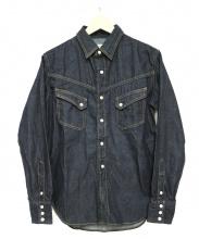TCB jeans(ティーシービージーンズ)の古着「デニムウエスタンシャツ」|インディゴ