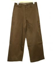 AURALEE(オーラリー)の古着「WASHED FINX CHINO WIDE PANTS」