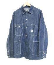 POST OALLS(ポストオーバーオールズ)の古着「デニムカバーオール」
