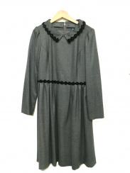 MS GRACY(エムズグレイシー)の古着「襟付ウールブラウスワンピース」