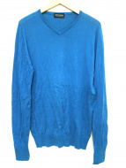 JOHN SMEDLEY(ジョンスメドレ)の古着「Vネックニット」|ブルー