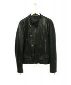 DIESEL BLACK GOLD(ディーゼルブラックゴールド)の古着「ラムレザーIラインジャケット」|ブラック