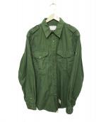 FILSON GARMENT(フィルソンガーメント)の古着「エボレット付ミリタリーシャツ」