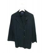 HUMAN WOMAN(ヒューマンウーマン)の古着「2WAYハーフコート」|ネイビー