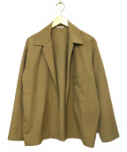 AURALEE(オーラリー)の古着「ウールシルクトロピカルシャツジャケット」