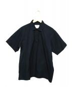 ALLEGE(アレッジ)の古着「半袖プルオーバーシャツ」|ネイビー
