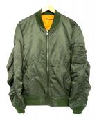 ALPHA(アルファ)の古着「ライトMA-1ジャケット」|グリーン