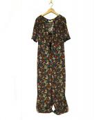 Lily Brown(リリー ブラウン)の古着「ヴィンテージ花柄ロンパース」|マルチカラー