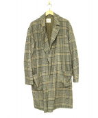 EDIFICE(エディフィス)の古着「クラシック柄オーバーコート」|グレー