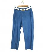 MASTER&CO.(マスターアンドコー)の古着「ワンウォッシュデニムロングパンツ」|ブルー