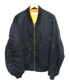 BEAUTY&YOUTH(ビューティアンドユース)の古着「BYナイロンルーズMA−1」 ブラック
