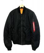 ALPHA(アルファ)の古着「MA-1タイトジャケット」 ブラック