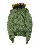 ALPHA(アルファ)の古着「N-2Bジャケット」 オリーブ