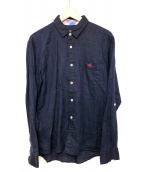 BURBERRY BLACK LABEL(バーバリーブラックレーベル)の古着「リネンシャツ」|ネイビー