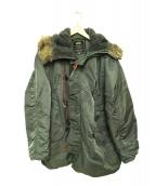 ALPHA(アルファ)の古着「N-3Bタイプコート」 カーキ