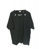 SAINT LAURENT PARIS(サンローラン パリ)の古着「スタープリントTシャツ」|ブラック