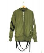 STAMPD(スタンプド)の古着「ストラップドボンバージャケット」|オリーブ