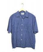 Gymphlex(ジムフレックス)の古着「半袖オープンカラーシャツ」|ブルー