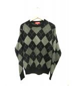 SUPREME(シュプリーム)の古着「Argyle Crewneck Sweater」|グレー