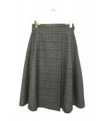 ANAYI(アナイ)の古着「チェックストレッチフレアスカート」