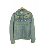 MSGM(エムエスジーエム)の古着「デニムジャケット」 スカイブルー