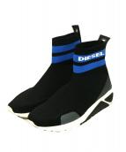DIESEL(ディーゼル)の古着「S-KBソックWスニーカー」|ブラック