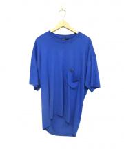 BALENCIAGA(バレンシアガ)の古着「バックヨーロッパロゴオーバーサイズTシャツ」|ブルー