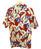PINEAPPLE JUICE(パイナップルジュース)の古着「アロハシャツ」|レッド