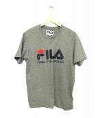 Gosha Rubchinskiy×FILA(ゴーシャラブチンスキー×フィラ)の古着「フルロゴプリントクルーネックTシャツ」