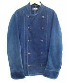 BLUE BLUE(ブルーブルー)の古着「藍染ダブルデニムジャケット」|インディゴ